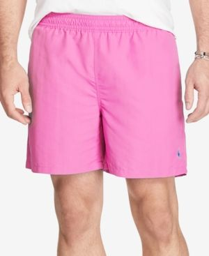 Polo Ralph Lauren Men's Big & Tall Hawaiian Swim Boxers - Pink XLT