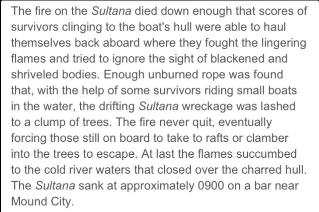 a study on the tragic sinking of the sultana 2014-7-2 sultana disaster on pbs  i'm going to have to study this further littlestown, jul 1, 2014 #6  tragic event which shook the nation.