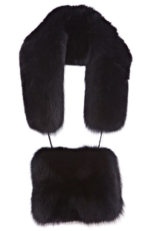 Everyone needs a good fur muff  Black Nadia Fox Muffler  Opening Ceremony Fall 2013