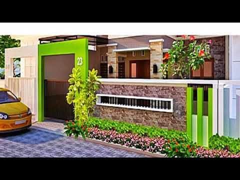 model pagar tembok rumah terbaik minimalis modern