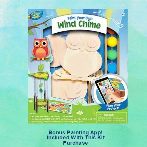 Wooden Paint Your Own #WindChime Craft DIY Kit NIB Bonus Painting App #MasterPieces