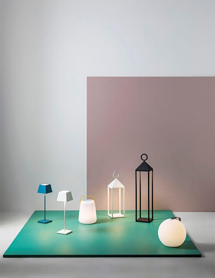 Lampada da tavolo a LED in alluminio a batteria