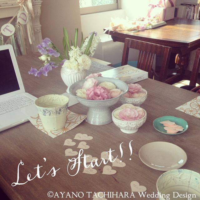 AYANO TACHIHARA Wedding Design ウェディング準備