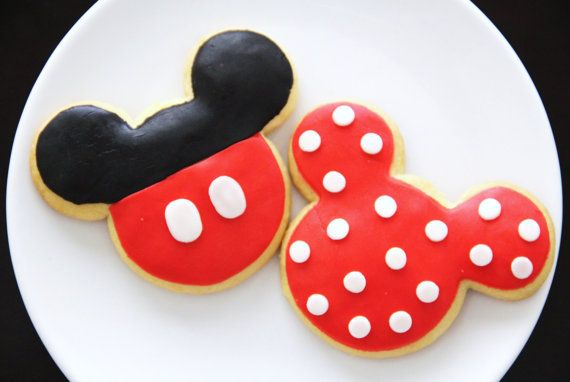 Mickey & Minnie Mouse Cookie Favors by CupCakesbyJoanne on Etsy, $30.00