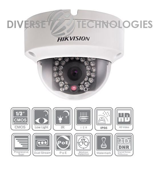 Hikvision 1080P HD-SDI Full HD Dome CCTV Security Camera 60FT IR IP66  3.6mm #Hikvision