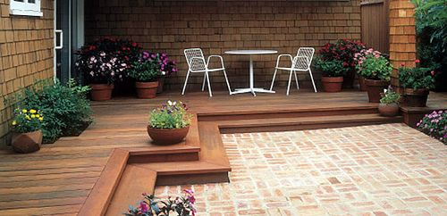 love this idea!! deck and patio, best of both worlds.