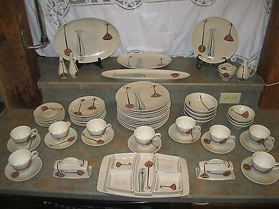 Huge Lot of Super Rare Mid Century Modern Red Wing Lute Song Dinnerware Pieces & 28 best red wing dinnerware images on Pinterest | Red wing pottery ...