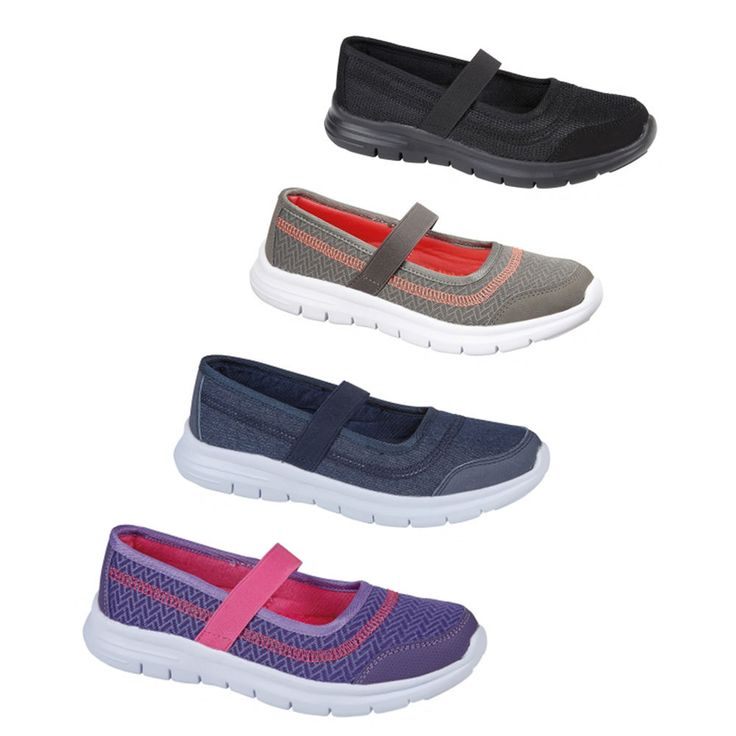 LADIES WOMENS SLIP ON WALKING COMFORT LIGHT WEIGHT SPORT SHOES TRAINER FLEXI GO   | eBay