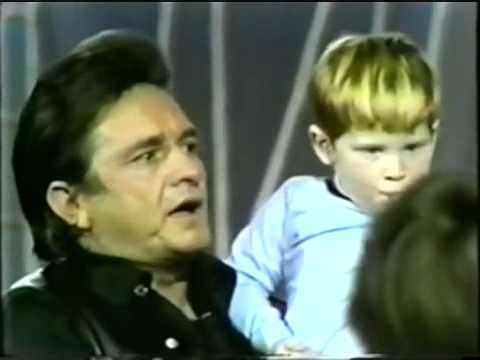 """Johnny sings everyone's favorite song to a crew of kids. ▶ Johnny Cash sings """"Jesus Loves Me"""" to children - YouTube"""