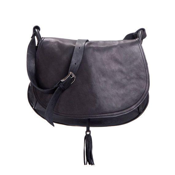 Black Leather Bag Black