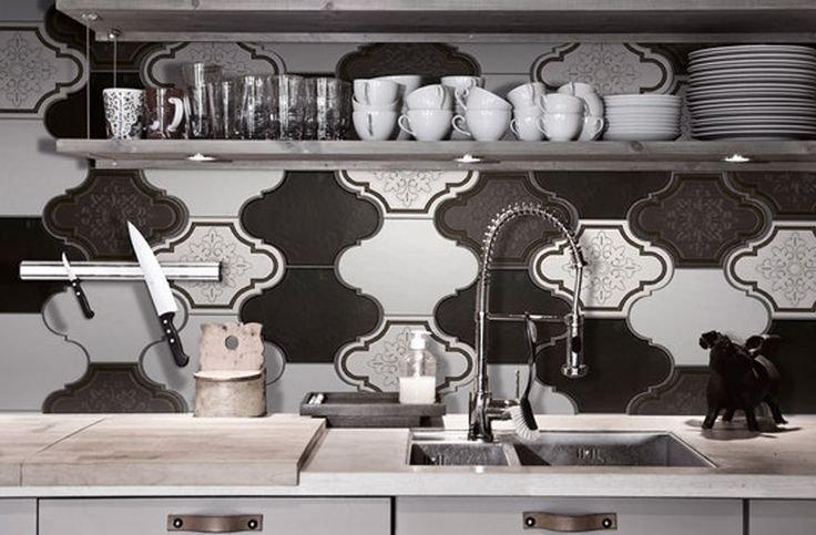Kitchen backsplash ideas with the Update tile collection from Gamma Due.