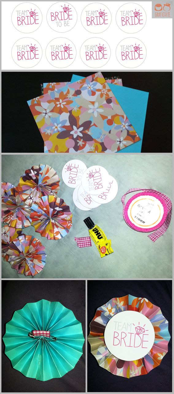 """Rosette """"Bride to be"""" a do it yourself project by grafichite"""