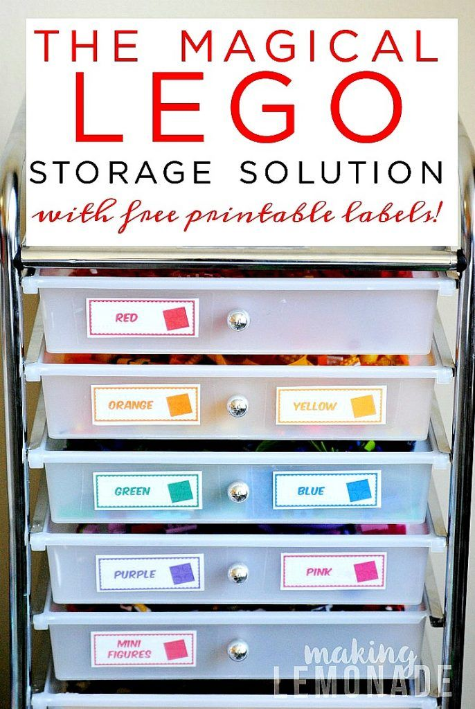 The Magical LEGO Organizing Solution & Free Printable Labels