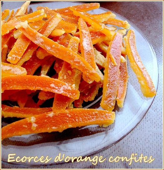 Ecorces d'orange confites ah bon, et puis pourquoi ne pas les couvrir avec du chocolat hmmmmm