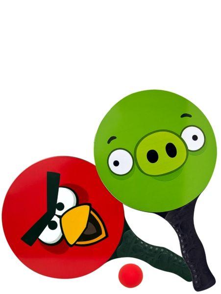 Angry Birds -rantatennissetti.Tässä pelissä vastakkain ovat kateudesta vihreä possu ja kiukusta punainen lintu. 4+