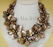joyas al por mayor collares para mujeres joyería de moda pulgadas 17 cofre joyería de concha flor joyería collar de navidad(China (Mainland))