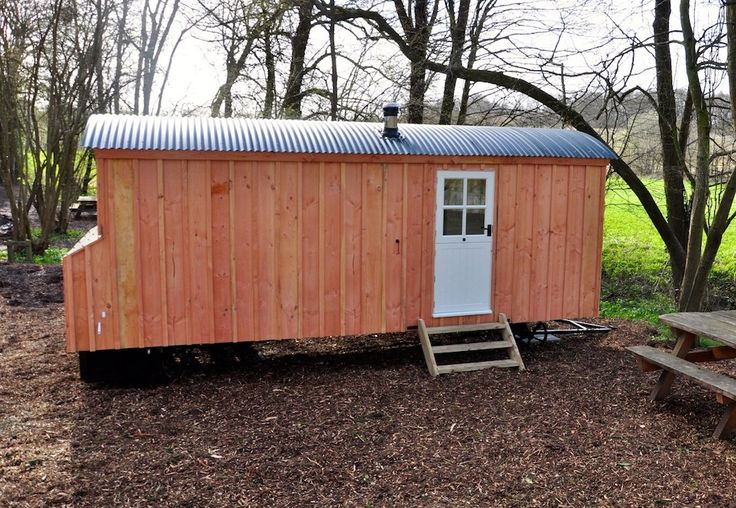 Douglas Fir 2013 - our new fancy shepherds huts with self flushing toilets and lights inside. Taking glamping to another level!