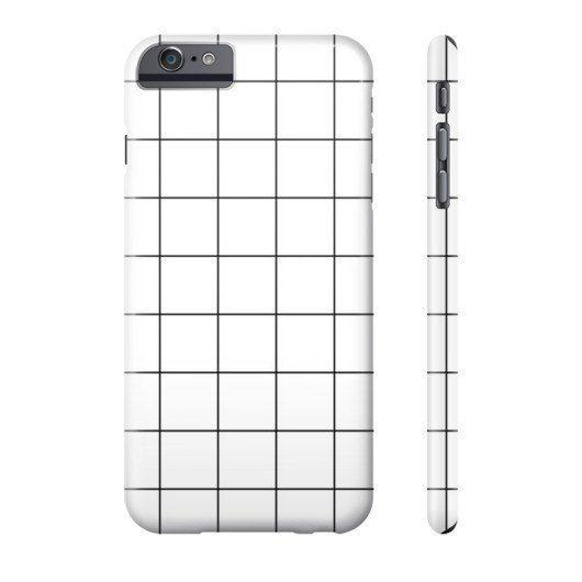 Minimal Hipster Grid Design iPhone Case