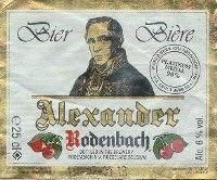 Label van Rodenbach Alexander