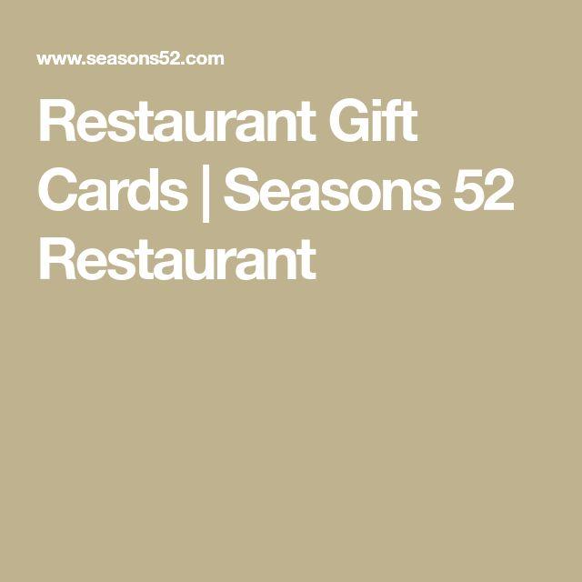 Restaurant Gift Cards | Seasons 52 Restaurant