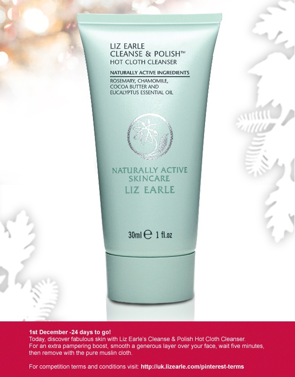 For your chance to win a Hot Cloth Cleanser, simply repin and post to Twitter with #LizEarleXmas on 1 Dec!