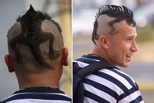 Hair Art- iguana