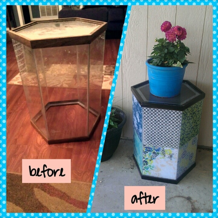 Junk makeover old fish tank into cute outdoor table fun for How to win money at fish tables