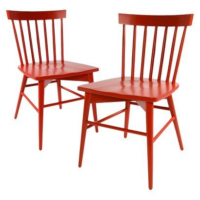 Threshold windsor dining chair set of 2 yellow would for Cute dining room sets