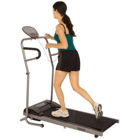 ProGear 350 Space Saver Power Walking Electric Treadmill with Heart Pulse Sensors, Black