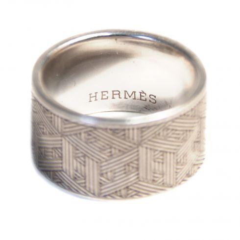 Anneau H Hermès Argenté Argent A72252