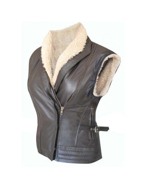 Laurie Holden Andrea The Walking Dead Fur Vest