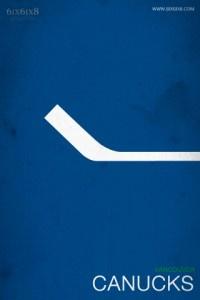 Minimalist NHL posters