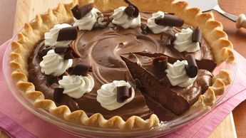 """In honor of Pi Day - this is my favorite """"really bad for you pie"""" to make - French Silk... It's so easy and SO good (use high quality chocolate instead of Hersheys)"""