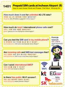 Easy to Learn Korean 1401 - Pre-paid Tourist SIM Card (part two).