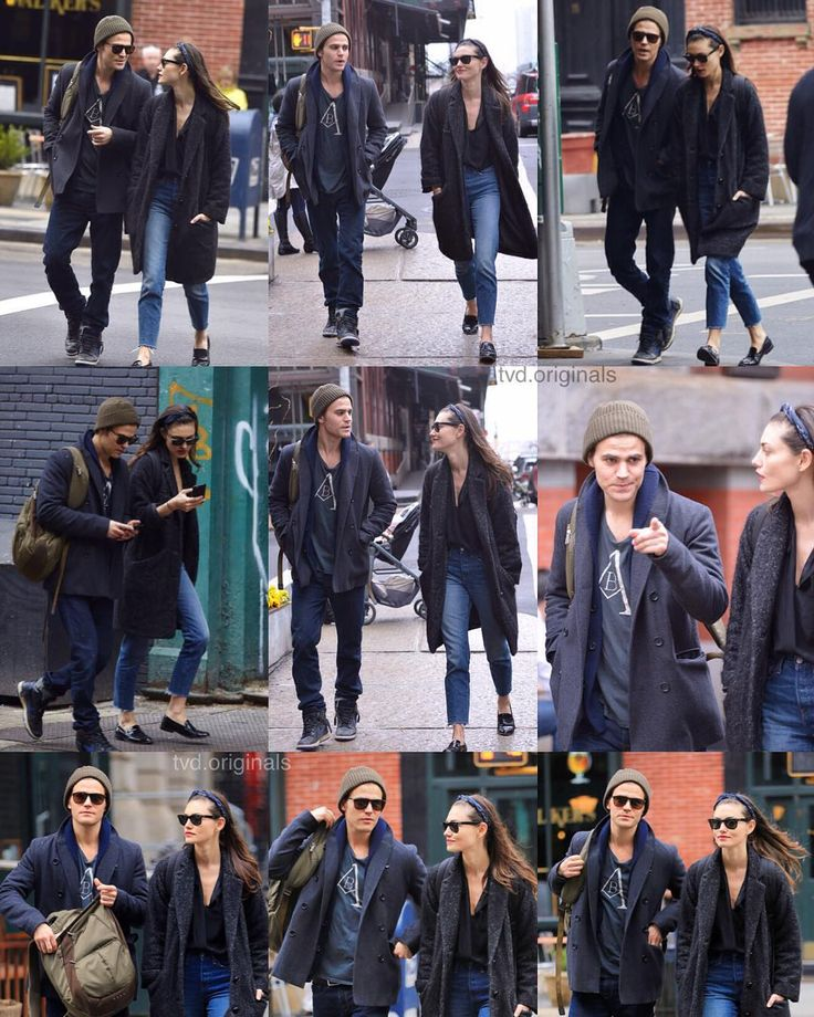 Paul Wesley & girlfriend Phoebe Tonkin taking a walk being all sorts of #CoupleGoals as they headed to a meeting in the Big Apple on Friday afternoon March 25 2016 in Tribeca New York City. by tvd.originals