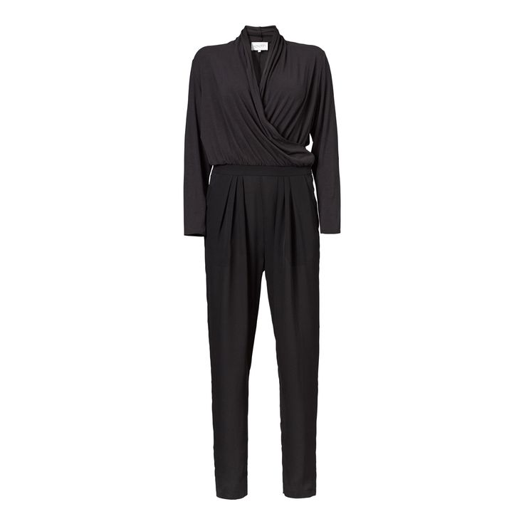 Wrap jumpsuit - black