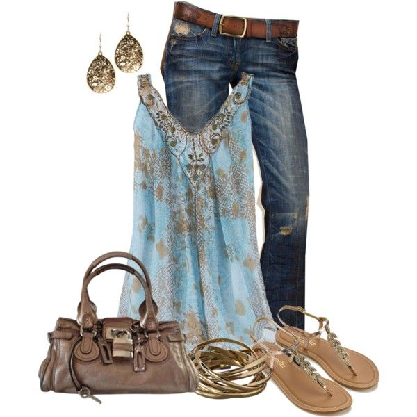 Untitled #88 by lorenscloset on Polyvore featuring Lucky Brand, Monsoon, Chloé and Alexis Bittar