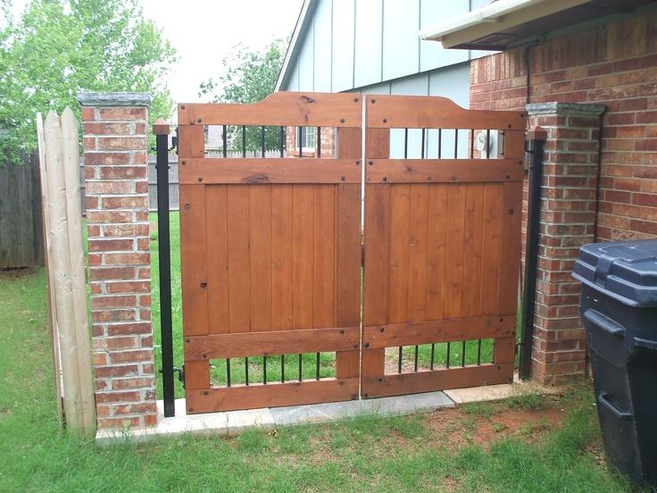 Cedar Gate And Brick Columns. Cedar GateFront Door ...
