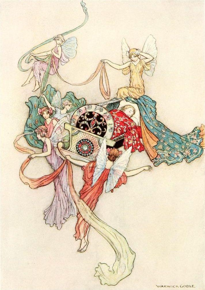 Faeries in Waiting.... çizgili masallar: The Fairy Book by Warwick Goble