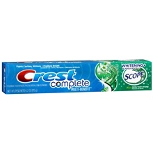 Crest Complete Multi-Benefit Whitening + Scope Fluoride Toothpaste