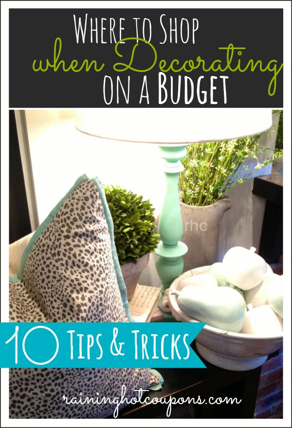 Sponsored Link *Get more FRUGAL Articles, tips and tricks from Raining Hot Coupons here* *Pin it* by clicking the PIN button on the image above! REPIN it here! I have a fetish for decorating…. In fact it's kind of a habit that use to be a bad habit since I would spend so much …