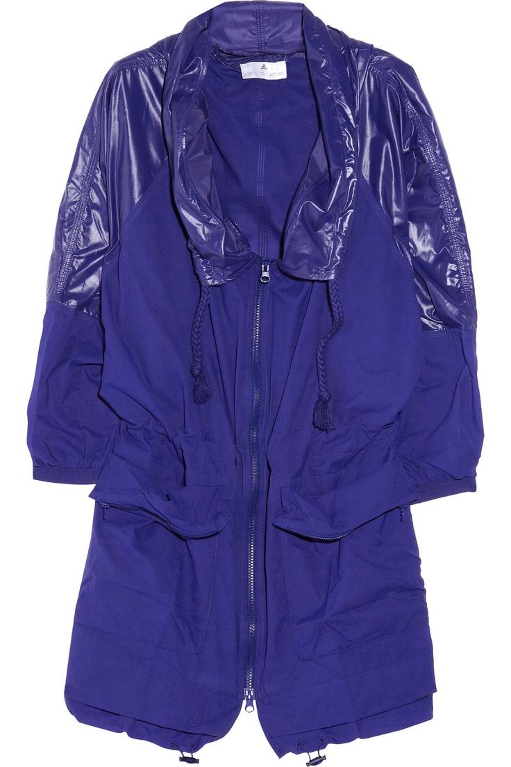 Adidas by Stella McCartney|Run hooded lightweight shell jacket|NET-A-PORTER.COM