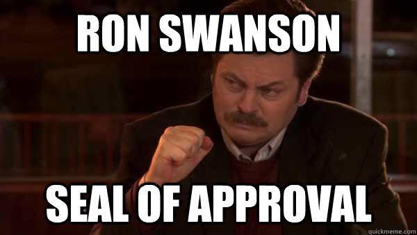 Ron Swanson seal