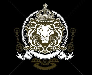 A Crest Featuring Crowned Lions Head