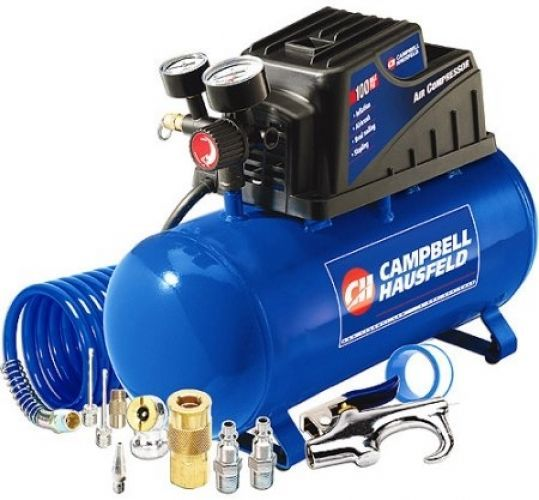 Campbell Hausfeld 3 Gallon 110psi Air Compressor and 11pc Accessory Set Bundle #CampbellHausfeld