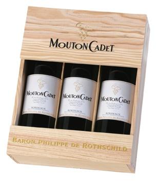 Mouton Cadet Estuche » Tres Vinos Bordeaux $42