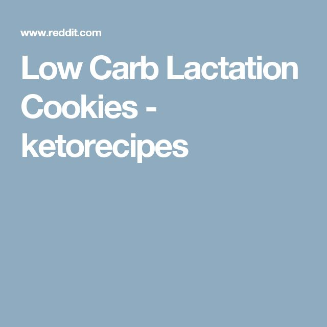 Low Carb Lactation Cookies - ketorecipes