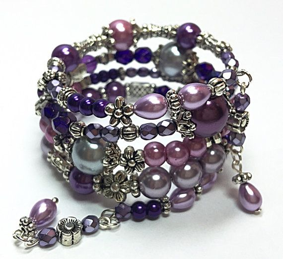 Wire Bracelets With Charms: 274 Best Memory Wire Bracelets Images On Pinterest