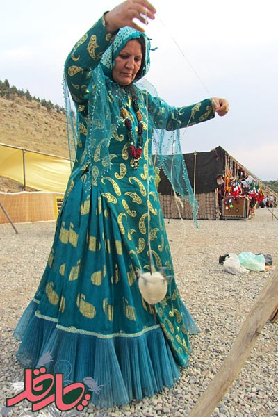 Qashqai tribal woman, Iran