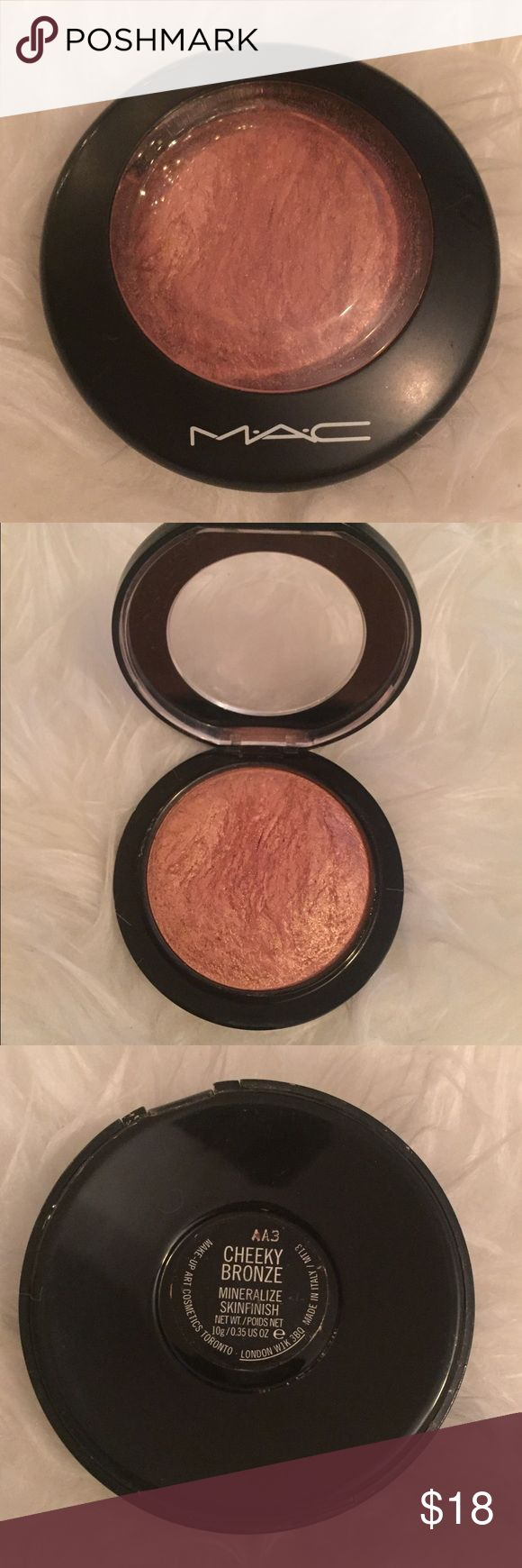 💯 Authentic MAC Cheeky Bronze MSF ✨ MAC Cheeky Bronze MSF ... Brand new never used only swatched 🤗 MAC Cosmetics Makeup Luminizer
